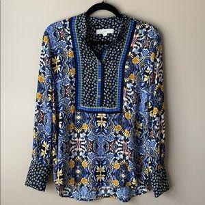 Loft printed blouse sz sm